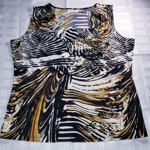 Calvin Klein Abstract Cowl Neck Dress Top